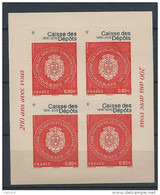 France 2016 Bloc Adhésif N° F1269A Bicentenaire De La Caisse Des Dépôts Neuf Luxe En Présentoir - Ungebraucht