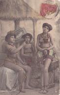 1435/ Oude Kaart, Naakte Dames, Franse Zegel, Onbekend Welk Land - Zonder Classificatie