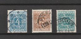 1921/30 4 ORE/10 ORE BROWN/20 ORE BLUE GREEN FINE USED - Port Dû (Taxe)