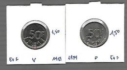 50 Francs Nickel Pur Baudoin - 08. 50 Francs
