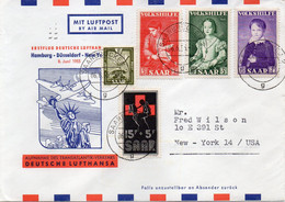 SARRE  : PA . POUR LES USA . 1955 . - Cartas