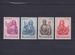 SWITZERLAND 1961, Mi# 738-741, CV €50, Art, Sculpture, MH - Nuovi