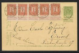 PWST Verstuurd Uit Bertrix 31.5.1912 Naar Trèves - Postcards [1909-34]