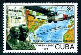 Cuba 1993 Vol Sevilla Camaguey 1933 Barberan Collar Breguet 19 Bidon Flight 60 Years - Aerei
