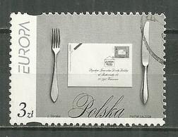POLAND Oblitéré 4096 EUROPA. L'ECRITURE D'UNE LETTRE. TABLE COUTEAU FOURCHETTE - Used Stamps