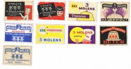 3 Molens - Matchbox Labels