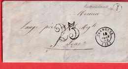 CAD TYPE 15 OLARGUES HERAULT BOITE RURALE I ROQUEBRUN 1854 ST PONS - 1801-1848: Precursors XIX