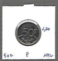 Baudoin 50 Fr Nickel 1992 F - 08. 50 Francs