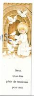 Communion De Cécile Voss 15/05/1980. Enfant-Jésus Et Colombes Devant Le Portail D'une église Romane. - Images Religieuses
