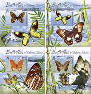 SOLOMON Isl. 2012 - Butterflies. OFFICIAL Deluxe Sheets [SLM12123dlx] - Butterflies
