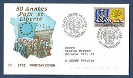 Frankreich  1995  Mi.Nr. 3084 , EUROPA CEPT - Frieden Und Freiheit - FDC (2782) - Premier Jour Strasbourg 29 Avril 1995 - 1995