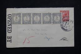 PAYS BAS - Taxes De Gravenhage En Bande De 5 Sur Enveloppe Du Royaume Uni ( Lelant ) Avec Contrôle Postal - L 78351 - Postage Due