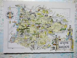 Carte Illustrée De Guyenne Et Gascogne - Altri