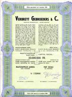 1944  Effect  VERBREYT GEBROEDERS & Co - Sint Niklaas - Handel In Alle Breigoederen - Textil