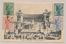 Italia - 1921 - Set Vittorio Veneto On Frontside Of Postcard - Roma Monumento A Vittorio Emanuele II - Not Sent - Gebraucht