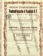 1923  Kapitaal Aandeel Van 500 Frank - Vandendriessche Et Vanneste N.V.   Sint Niklaas - Brei En Weverij Goederen - Textil