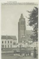 Oudenaarde-Audenaarde Ingang Hertog Albrecht Kazern &Ste Walburgakerk - Oudenaarde