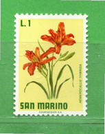 (Riz) San. MARINO **-1971 - FIORI - FLOWERS.  Unif. 836 -.Come Scansione.  MNH - Unused Stamps