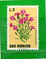 (Riz) San. MARINO **-1971 - FIORI - FLOWERS.  Unif. 838 -.Come Scansione.  MNH - Unused Stamps