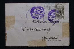 MAROC ESPAGNOL - Enveloppe D'un Soldat à Dar Riffien Pour Madrid En 1929 - L 78355 - Spanish Morocco