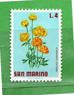(Riz) San. MARINO **-1971 - FIORI - FLOWERS.  Unif. 839 -.Come Scansione.  MNH - Unused Stamps