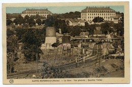 Cpa.  SAINTE-MENEHOULD. (Marne) La Gare - Vue Générale - Quartier Valmy  /393 - Sainte-Menehould