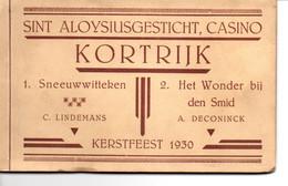 Kortrijk: Sint-Aloysiusgesticht, Casino: Kerstfeest 1930 : Boekje Met 9 Scènes - Kortrijk