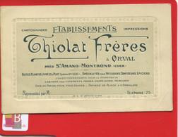 Format CPA Carte Représentant Cartonnages Thiolat Frères Orval St Amand Montrond Boîtes Carton Emballage Confiseurs - Saint-Amand-Montrond