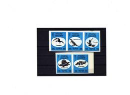 "Abkhasie 1995 -  5 Valeurs - Adhésif ""Dinosaures"" - Neuf ** - MNH - Prehistóricos"