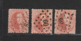 COB 16 + 16A + 16B Oblitérés Sans Défaut Cote 98€ - 1863-1864 Medallions (13/16)