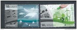 """Islande 2016, N°1420/1421 Neufs  Europa, """"pensez Vert"""" - Nuovi"""
