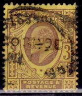 Great Britain 1902-11, King Edward VII, 3p, Sc#132, Used - Gebraucht