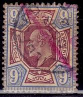 Great Britain 1902-11, King Edward VII, 9p, Sc#136, Used - Gebraucht