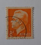 N° 366        Prince Rainier III  -  Taille-douce 8F Orange - Used Stamps
