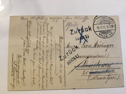 Luxembourg Carte 1911 Retour Zurück - Errors & Oddities