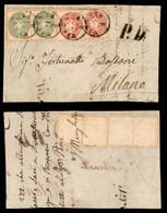 ANTICHI STATI ITALIANI - LOMBARDO VENETO - Bandiera - Coppia Del 3 Soldi (42) + Coppia Del 5 Soldi (43) - Frontespizio D - Non Classés