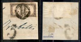 ANTICHI STATI ITALIANI - LOMBARDO VENETO - Bozzolo 22.2 (P.ti 6) - Coppia Del 10 Cent Seppia (14Ad - Sardegna) Su Framme - Non Classés