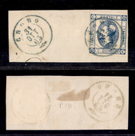 ANTICHI STATI ITALIANI - LOMBARDO VENETO - Gromo 31.10.63 (azzurro - P.ti 10) - 15 Cent (13 - Regno) Su Frammento - Non Classés
