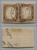 ANTICHI STATI ITALIANI - LOMBARDO VENETO - Olgiate (P.ti 9) - Due 10 Cent (14Co - Sardegna) Su Frammento (600+) - Non Classés
