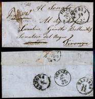 ANTICHI STATI ITALIANI - LOMBARDO VENETO - Padova (29.12 - 1866) - Lettera Per Firenze Inoltrata Poi A Mantova E Resa A  - Non Classés