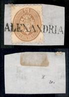 ANTICHI STATI ITALIANI - LOMBARDO VENETO - LEVANTE AUSTRIACO - Alexandria (P.ti 11) - 15 Soldi (45) Usato Su Frammento - Non Classés
