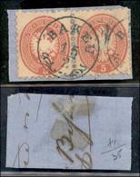 ANTICHI STATI ITALIANI - LOMBARDO VENETO - LEVANTE AUSTRIACO - Bakeu (azzurro - P.ti R) - Coppia Del 5 Soldi (43) Usata  - Non Classés
