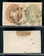 ANTICHI STATI ITALIANI - LOMBARDO VENETO - LEVANTE AUSTRIACO - Bakeu (azzurro - P.ti R) - 15 Soldi (45) + 3 Soldi (37) C - Non Classés