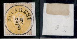 ANTICHI STATI ITALIANI - LOMBARDO VENETO - LEVANTE AUSTRIACO - Bucarest (P.ti 10) - 2 Soldi (36) Usato Su Frammento - Non Classés