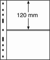 Leuchtturm Blankoblätter Schwarz OPTIMA-Hüllen 2 S (10 Stück Neu ( - Blanco Pagina's