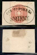 ANTICHI STATI ITALIANI - LOMBARDO VENETO - LEVANTE AUSTRIACO - Col Vapore Da Smirne (P.ti R) - 5 Soldi (43) Usato Su Fra - Non Classés
