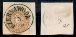 ANTICHI STATI ITALIANI - LOMBARDO VENETO - LEVANTE AUSTRIACO - Czernawoda (azzurro - P.ti 11) - 15 Soldi (45) Usato Su F - Non Classés