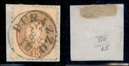 ANTICHI STATI ITALIANI - LOMBARDO VENETO - LEVANTE AUSTRIACO - Durazzo (azzurro - P.ti 10) - 15 Soldi (45) Usato Su Fram - Non Classés