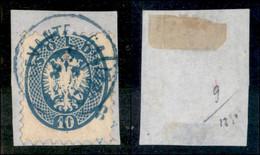 ANTICHI STATI ITALIANI - LOMBARDO VENETO - LEVANTE AUSTRIACO - Gallipoli Nel Levante (azzurro - P.ti 10) - 10 Soldi (44) - Non Classés
