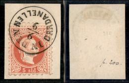ANTICHI STATI ITALIANI - LOMBARDO VENETO - LEVANTE AUSTRIACO - In Den Dardanellen (P.ti 10) - 5 Soldi (37) Usato Su Fram - Non Classés